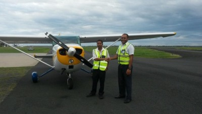 Marshallese Student Pilot studying in Fiji.
